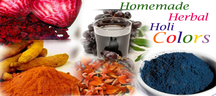 make herbal colours for Holi at Home