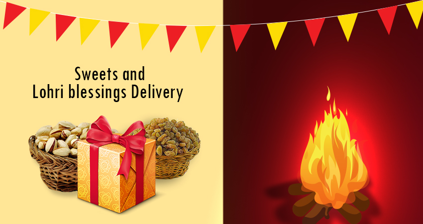 Sweets and Lohri blessings Delivery